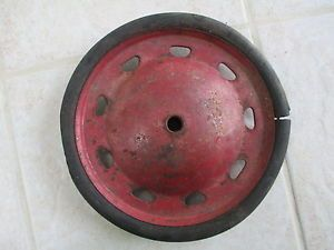Antique Vintage Pedal Car Toy Wagon Tricycle Rubber Tire and Artilery Wheel