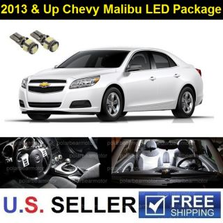 2013 Up Chevy Malibu Interior Full LED Lights Package Deal Combo Kit 7pcs White