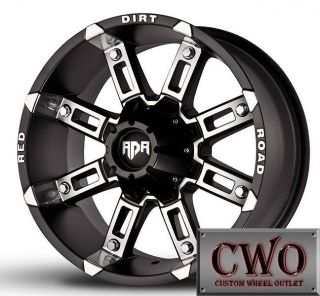 17 Black Rdr Thunder Wheels Rims 8x165 1 8 Lug Chevy GMC Dodge RAM 2500 CWO