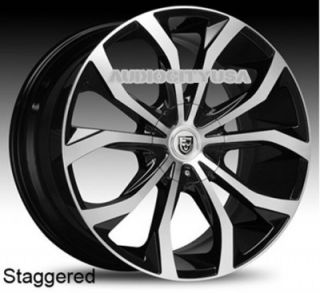 "22"" Lexani Lust BM Wheels and Tires Rims for Chevy Tahoe Escalade Yukon RAM Ford"