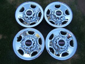 "Chevy GMC 16"" Chrome 8 Lug Wheels Rims 2500 3500 HD Silverado Sierra Van"