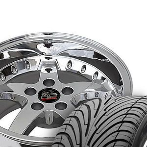 "17"" 9 10 5 Chrome Cobra Wheels Nexen Tires Rims Fit Mustang® '94 '04"
