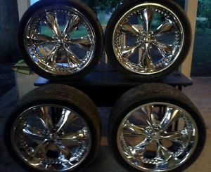 "4 FOOSE 24"" Nitrous Chrome Wheels Rims Set"