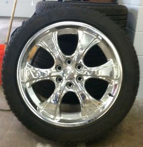 22 inch Chrome Rims and Tires Chevrolet Factory Accessory Wheels