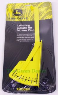 John Deere Mower Deck Leveling Gauge for Lawn Tractors