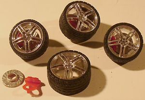 """Twenty Fours"" Wheels Tires and Brakes Dub 1 25 1 24 Scale Model Car Parts"