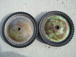 2 Antique Vintage Pedal Car Toy Car Tractor Tires Wheels