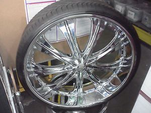 "28"" Red Sport RW33 Wheels Rims Tires Fit Chevy Cadillac GMC Nissan Old Schoolcar"