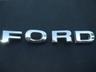 Chrome Hood Letters 1978 1979 Ford Pickup Truck Bronco