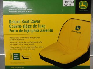 John Deere Gator Riding Lawn Mower Deluxe Seat Cover Medium LP92624