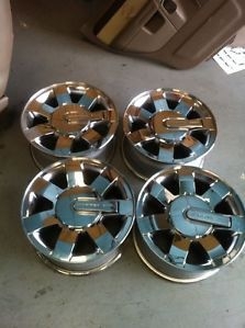 "16 "" Factory Hummer H3 Chrome Wheels Rims Center Caps Goo Used Condition"