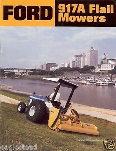 Equipment Brochure Ford 917A Flail Mowers Lawn Turf Maintenance EB95