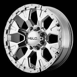 16 inch Chrome Wheels Rims Chevy GMC Dodge 2500 3500 8 Lug Trucks Helo 878 8x6 5