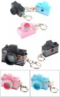 Mini Camera Style Toy Flash Click Keychain Keyring Cool