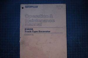 Cat Caterpillar E120B Track Excavator Operation Operator Maintenance Shop Manual