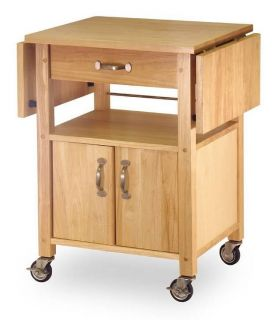 Winsome Wood Drop Leaf Kitchen Cart $169 99