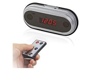 FULLHD1080P160° Spy Hidden Video Camera Mirror Clock Recorder Motion Remote HDMI