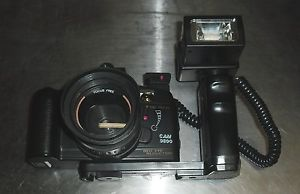 Canon Cam 9600 35 mm Camera Red Eye Reduction Drive Adjustable Flash Attached