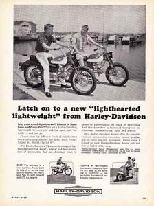 1965 Harley Davidson Scat Topper Pacer Sprint Classic Print Ad