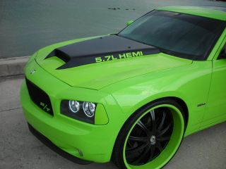 "2005 2010 Dodge Charger Cuda 3"" Cowl Trufiber RAM Air Body Kit Hood"