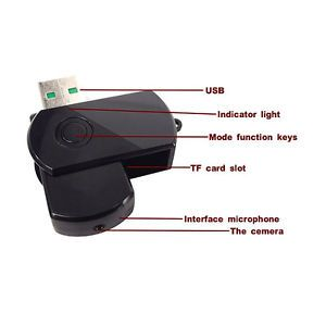 Mini USB Flash Disk Spy Hidden Camera Motion Detector DVR DV Black