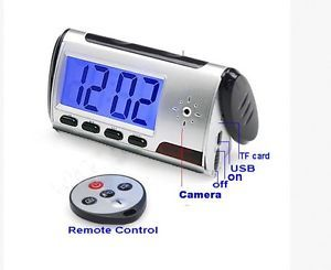 Alarm Clock Mini Nanny Camera DVR Hidden Spy Camera Remote Smart Camcorder