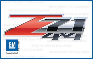 2007 2013 Chevy Silverado Z71 4x4 Decals Set 3D Truck Bed Side Stickers