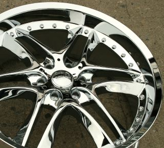 Akuza Blade 381 22 x 9 0 Chrome Rims Wheels GMC Yukon Denali XL 07 Up 35 6H