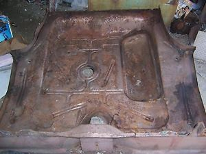 1957 58 Ford Fairlane 500 Custom Sunliner Complete Trunk Floor Board w Clip