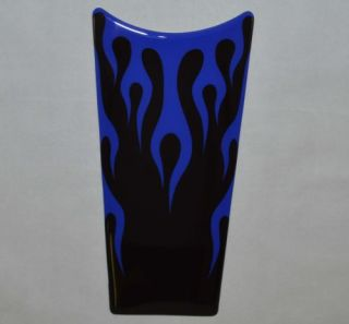 "Custom ""Blue Flame"" Dash Insert Decal for 1989 2007 Harley Electra Road Glide"