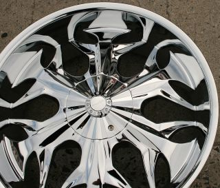 Akuza Reaper 508 22 x 9 5 Chrome Rims Wheels Trailblazer 6H 35