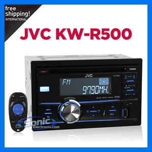 New JVC KW R500 Car Audio Double DIN Receiver CD Player Am FM Stereo 046838048944