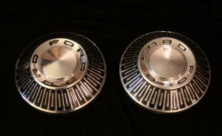 1965 1966 1967 Ford Galaxie 500 Custom Fairlane Dog Dish Poverty Hubcaps 10 5""