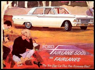 1962 Ford Fairlane 500 Original Dealer Brochure 62