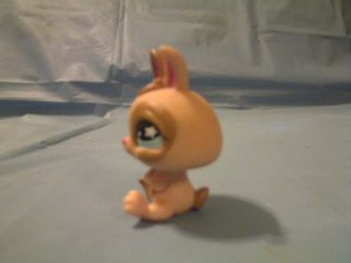 Hasbro Littlest Pet Shop LPS 2007 Tan Baby Bunny Rabbit Toy