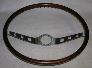 "64 65 66 Chevy 16"" Wood Walnut Steering Wheel Corvair Chevelle Impala SS N34 GM"