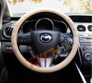 New Porous Anti Slip Soft Sport Genuine Leather Auto Car Steering Wheel Cover