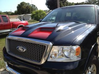 Ford F150 RAM Air Funct Dual Scoop Truck Hood 2004 2008