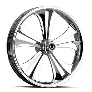 "Custom 3 Dimensional Wheel 23"" Front Chrome 3D Rim for Harley"