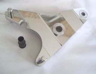 Harley Big Twin Shovelhead FX Chrome Billet Rear Brake Caliper Bracket