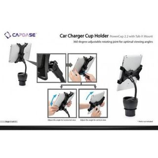 Capdase Powercup 2 2 Tab x Mount Car Charger Cup Holder  Kindle iPad Mini