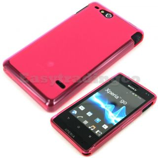 Pink Soft Rubber Case Cover Sony Xperia Go ST27I