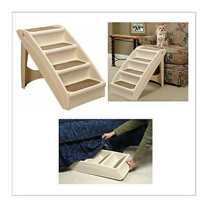 Solvit Pupstep Plus Pet Stairs for Dogs and Cats Windows Climb Sofa Bed Couch