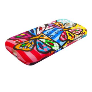 Abstract Colorful Butterfly Hard Case Cover Samsung Galaxy S4 SIV s IV Accessory