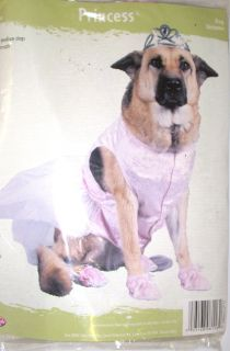 "Pink Princess Dog Pet Costume Dress M 14 18"" NIP"