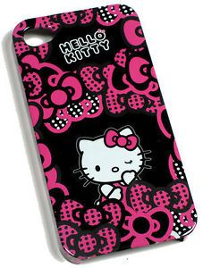 Claire's Accessories iPhone 4 Case Pink Black Hello Kitty BNWT