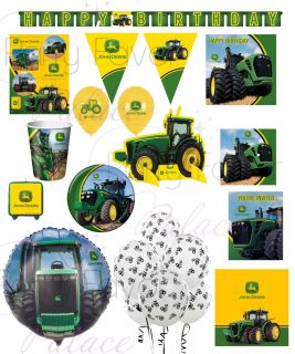 John Deere Tractor Birthday Party Baby Shower Retirement Party Supplies