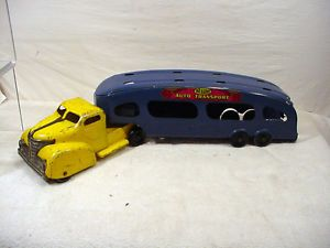 Vintage Pressed Steel Toy Marx Delux Auto Car Transport Truck Trailer Parts