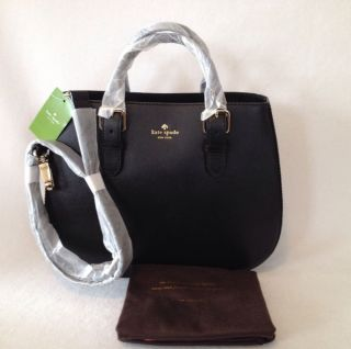 Kate Spade Charlotte Street Sylvie Leather Satchel Bag Tote Black