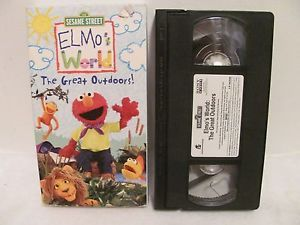 VHS Elmo's World The Great Outdoors VHS 2003